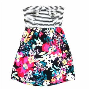 Roxy lrg strapless dress